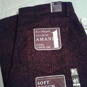 🌺 NWT Gloria Vanderbilt Amanda Print Jeans
